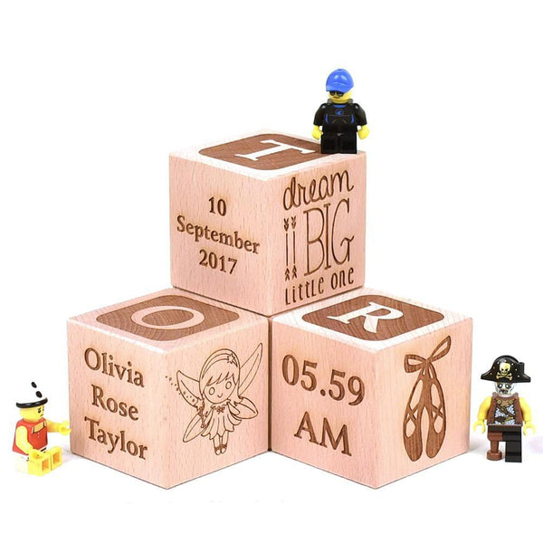 Large Wooden Building Blocks 6cm X 6cm