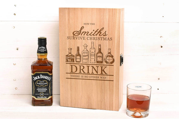 Christmas Double Wine or Whiskey Box WB34