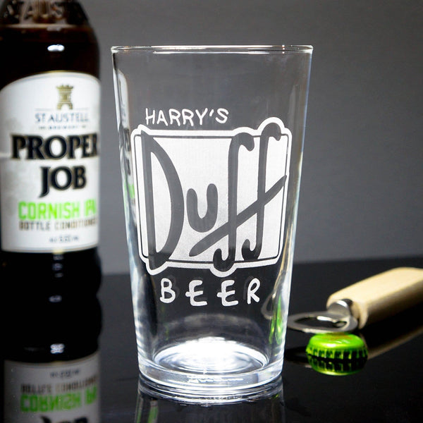 Personalised Duff Glass