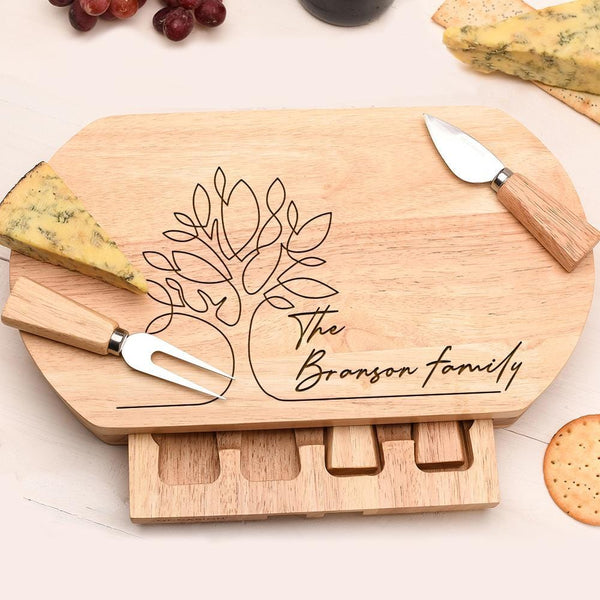 FAMILY TREE CHEESE BOARD OVL-OMG99