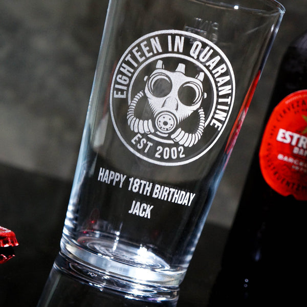 Quarantine Pint Glass