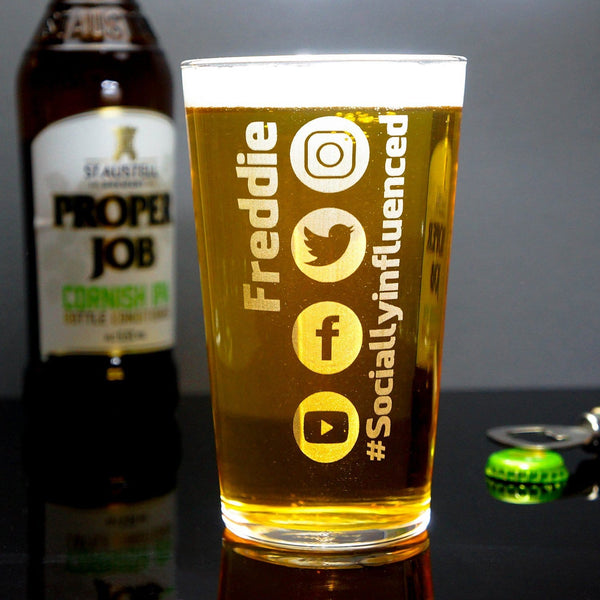 Social Influencer Pint Glass