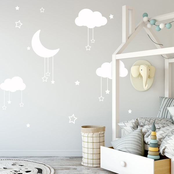 Moon & Stars Decals