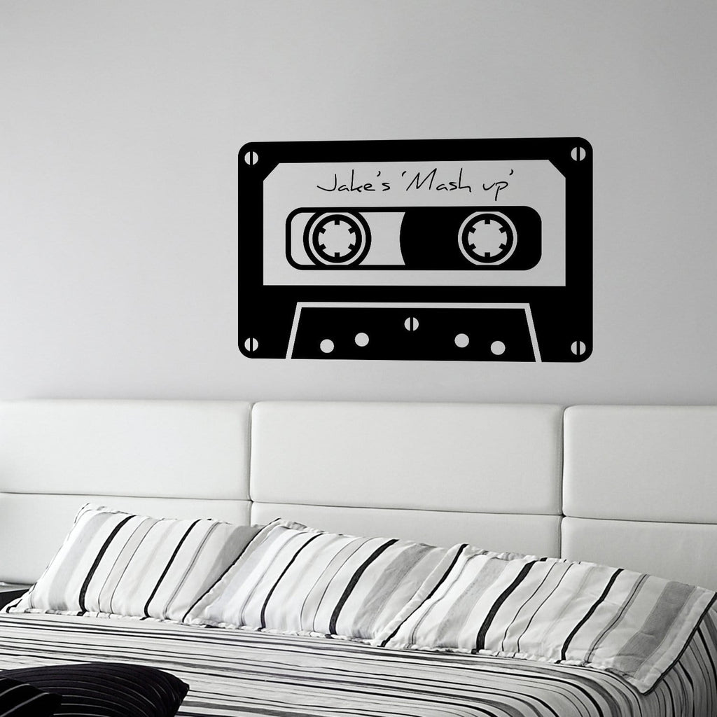 Personalised Retro Tape Wall Decal