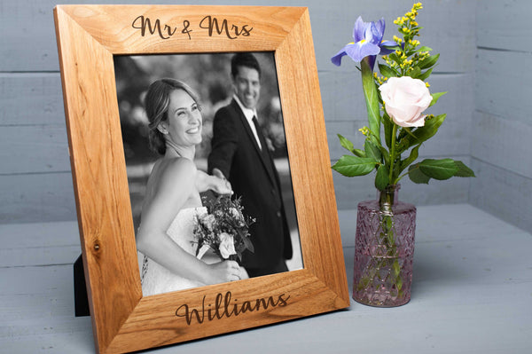 Oak Picture Frame Mr & Mrs