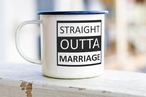Divorce Enamel Mug