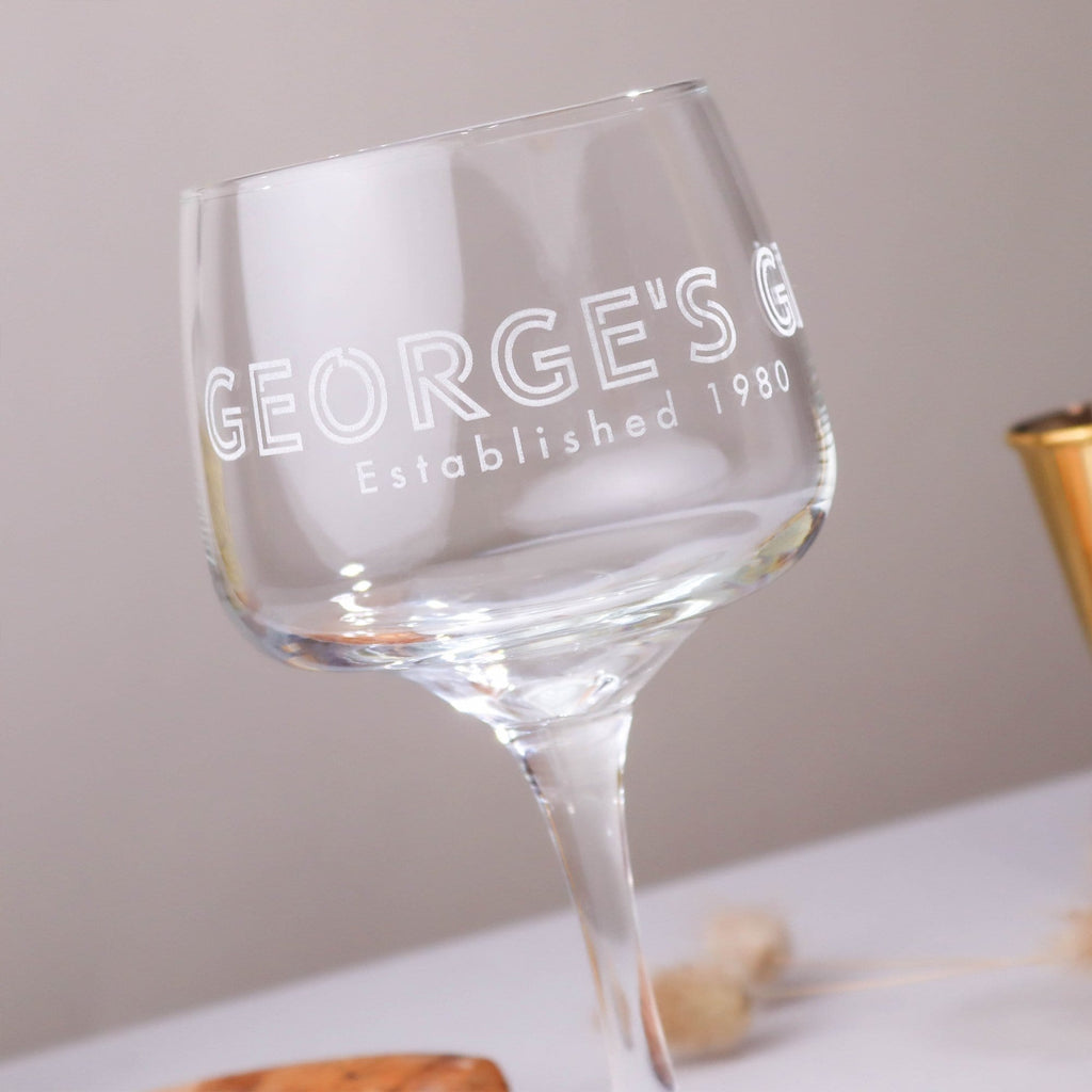 Established Gin Glass