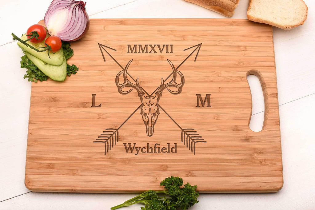 Stag Skull Design Cutting board