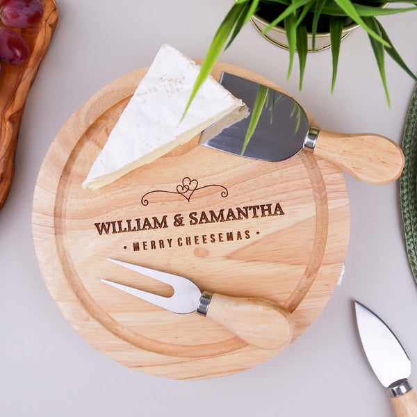 Couples Cheese Board Knife Set