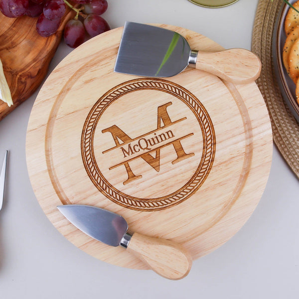 Monogram Cheese Board Knife Set