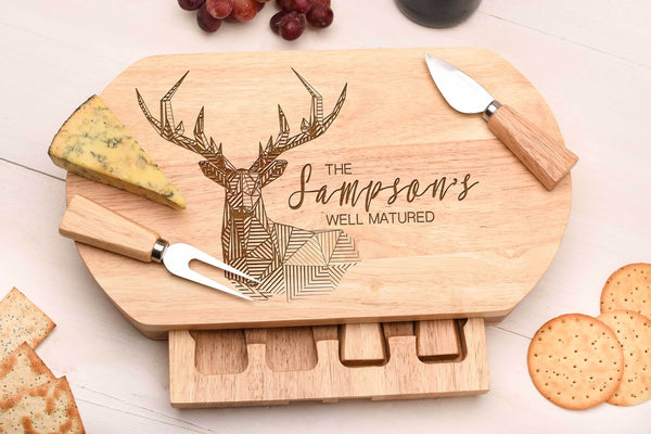 Stag Design Oval Cheese Board