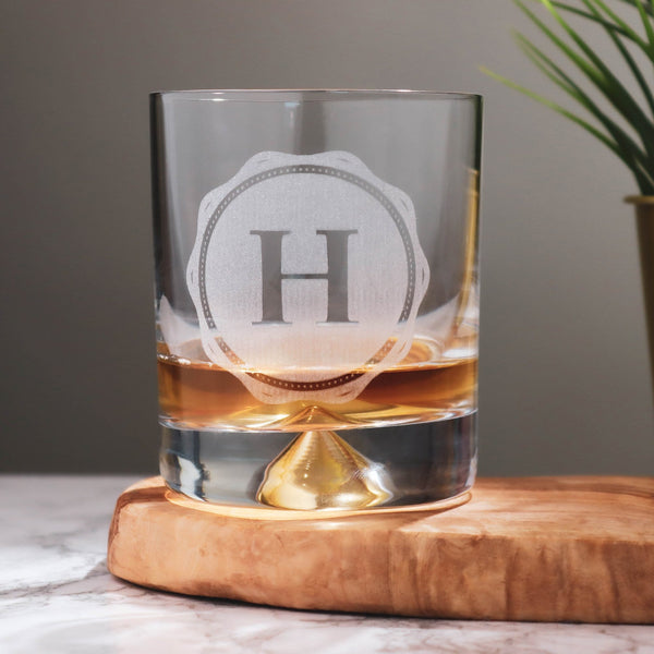 Whiskey Stamp Glass Tumbler