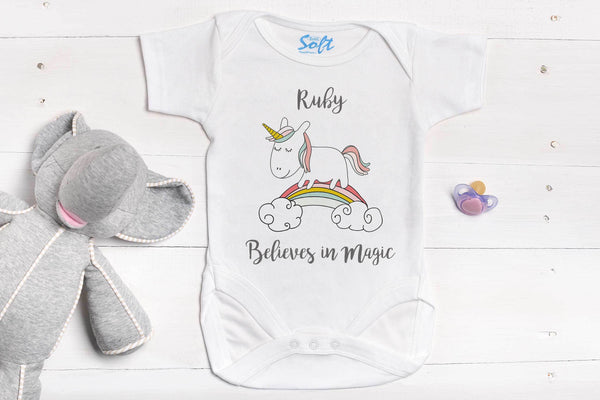 Magical Unicorn Baby Grow