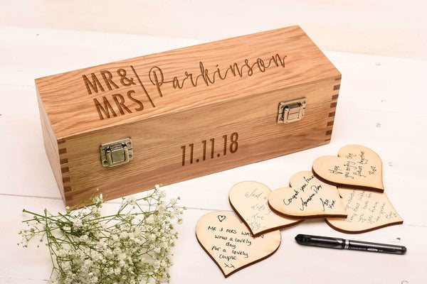 Oak Guest Book Box GB5