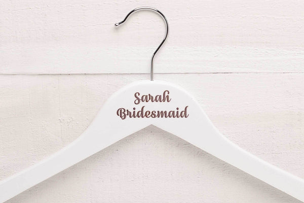 Personalised Wedding Hangers WHJULY