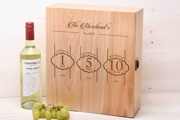 Triple Wine Box Wedding Gift WB4