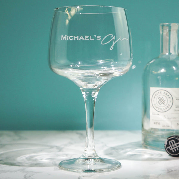 Gin Gin Personalised Glass