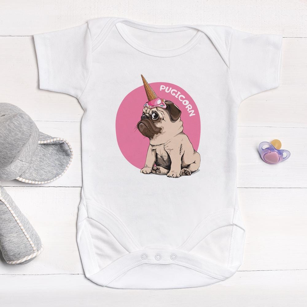 PUG Unicorn Baby Grow