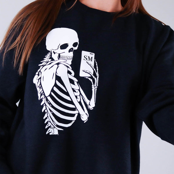 Selfie Skeleton Sweater