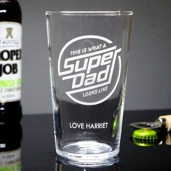 Super Dad Beer Glass