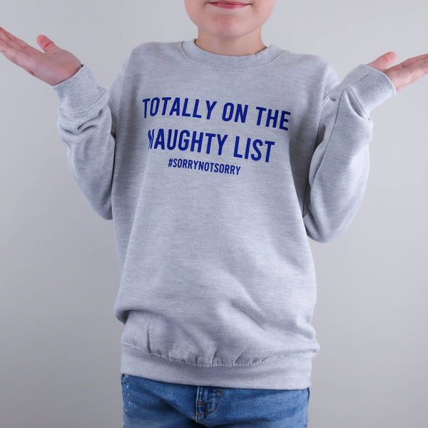 Kids Naughty List Christmas Jumper