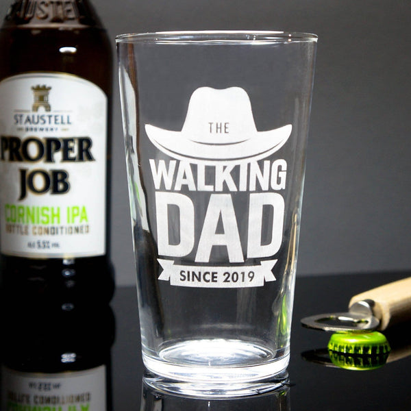 The Walking Dad Beer Glass