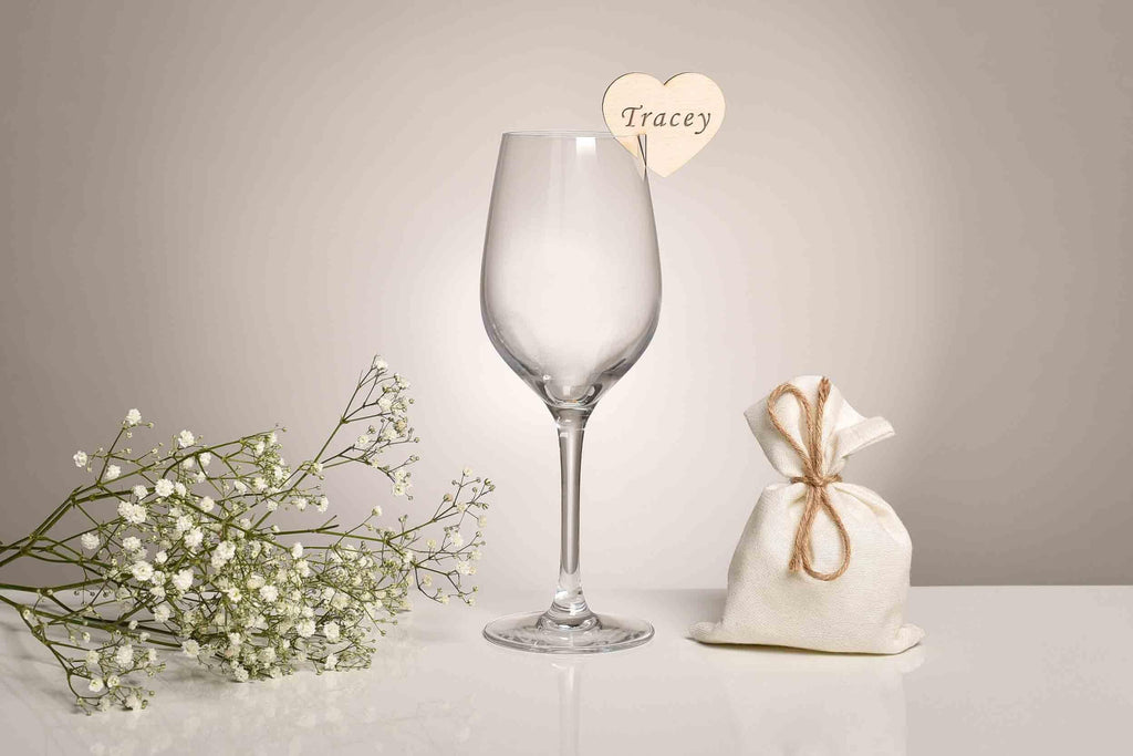 Glass Charms Wedding Place Settings