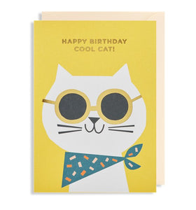 Birthday card Cool cat