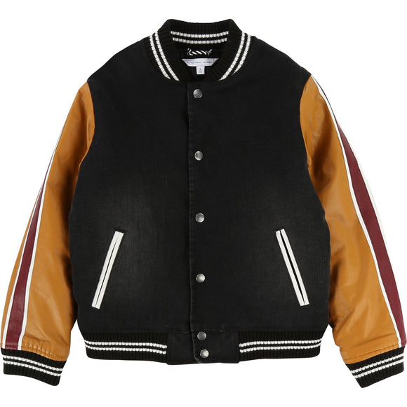 Leather football jacket