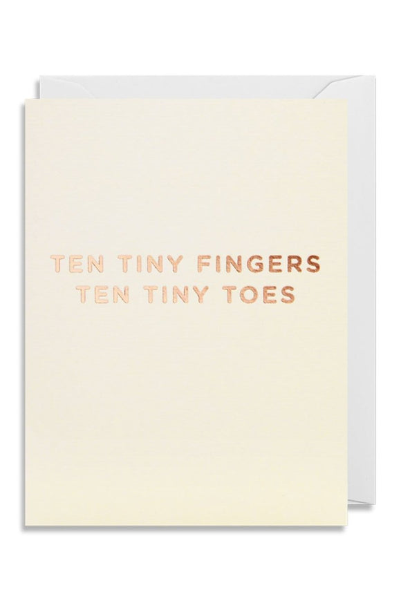 Baby Card ten tiny fingers and toes