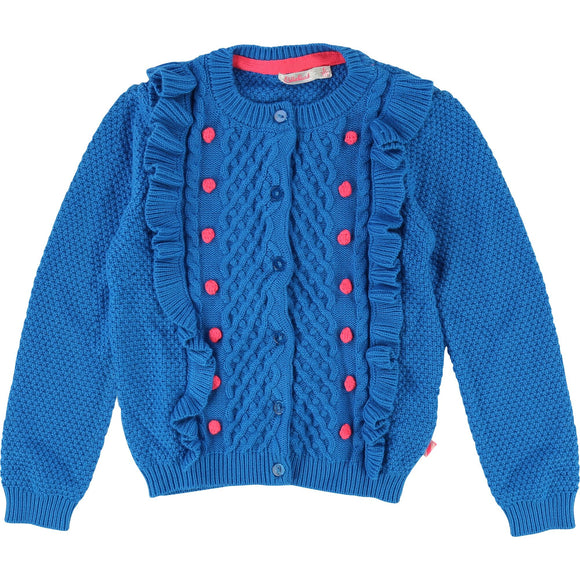 Knitted blue cardigan by Billieblush