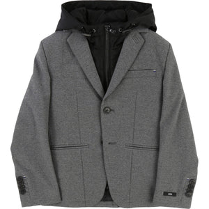 suit jacket charcoal gray