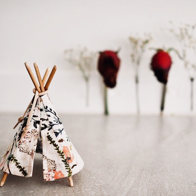Teepee ~ Dusty Pink Floral