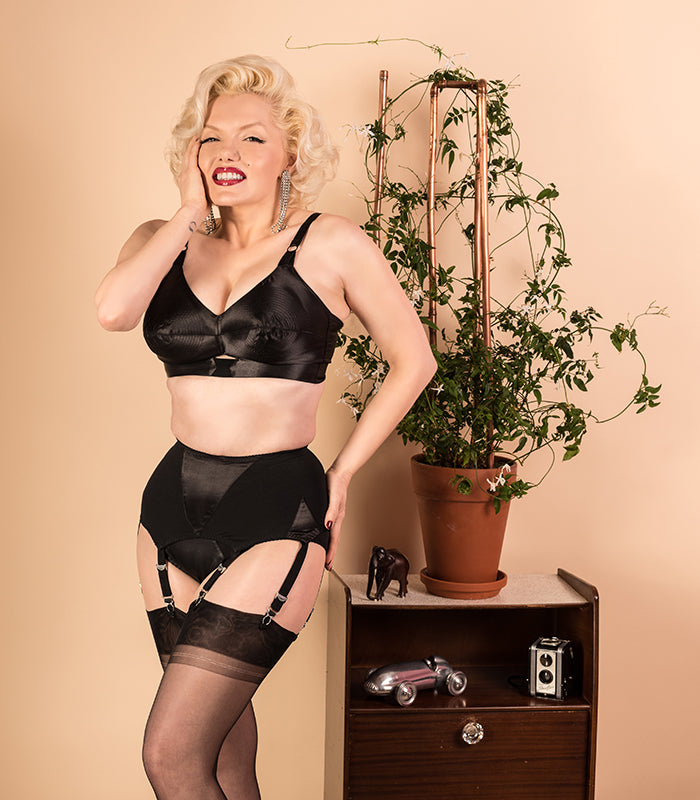 Old Hollywood Glamour: Marilyn Monroe Style Lingerie | Black Bullet Bra
