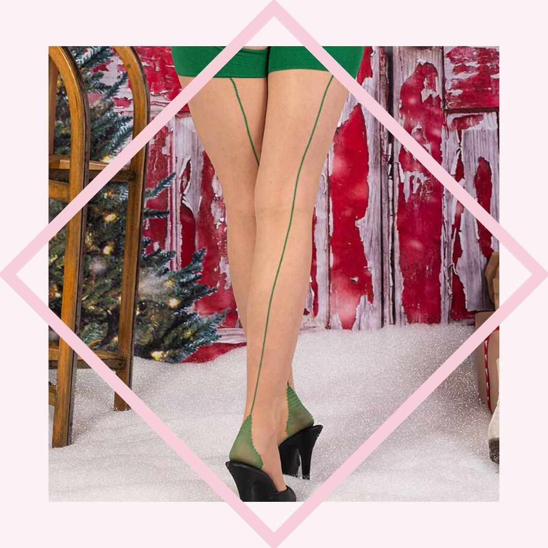 Christmas seamed stockings