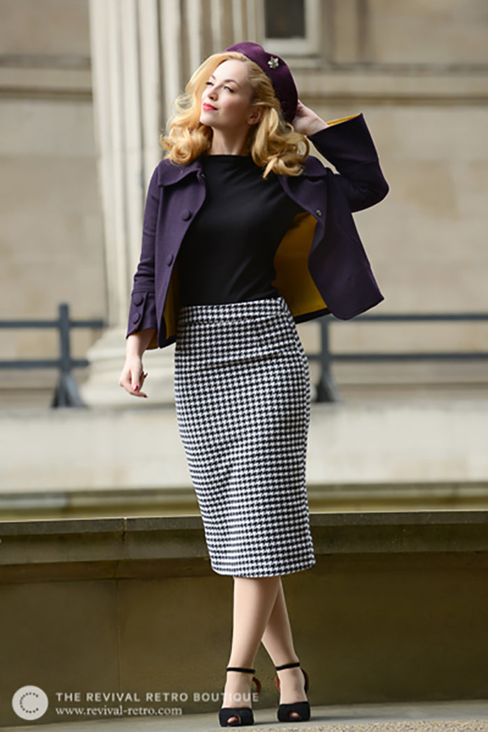 Five Minutes With | Revival Retro Boutique Houndstooth Dogtooth Check Skirt