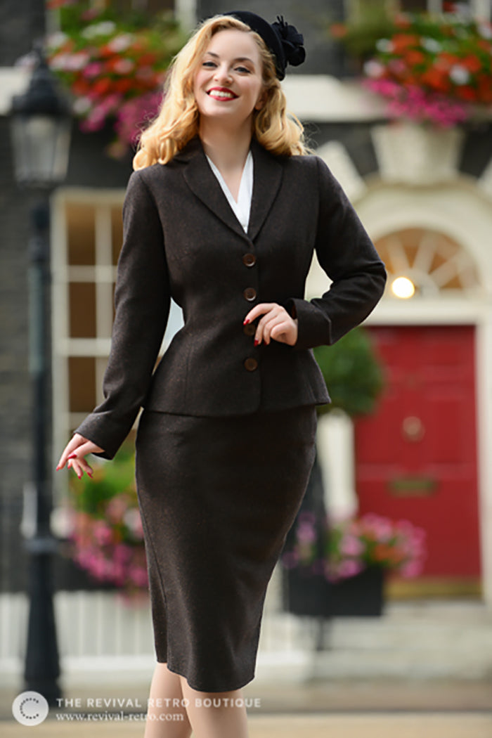 Five Minutes With | Revival Retro Boutique Flattering Fit Tweed Suit