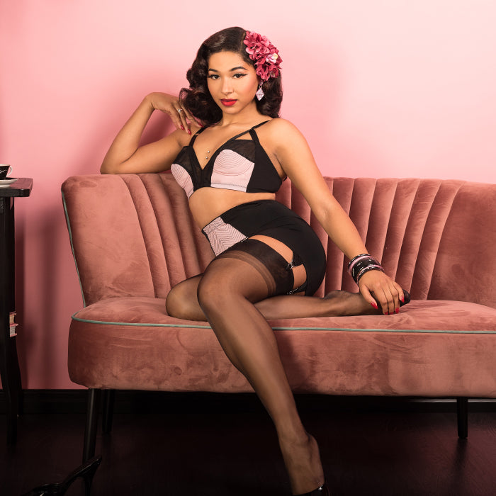 fee309764 Retro inspired style that flatters and flaunts all your favourite curves!  Emily lingerie is designed with a high waisted girdle
