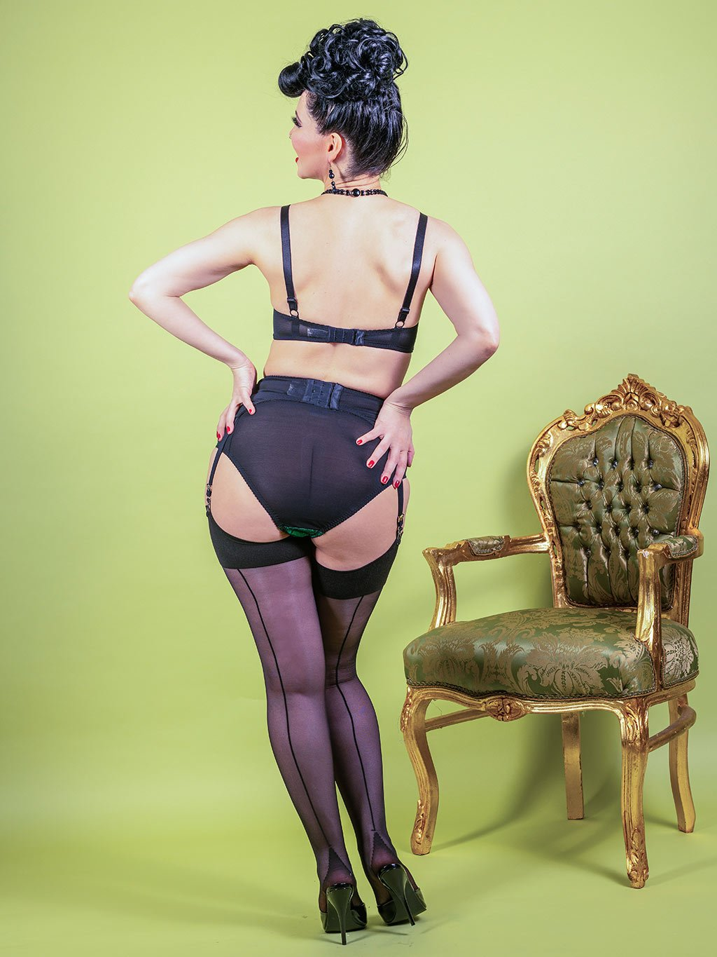 Indulge in your love of vintage glamour on our website where you'll find a fabulous range of vintage inspired seamed stockings and lingerie by What Katie Did.
