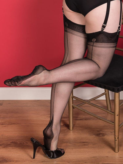 Fully Fashioned Stockings | Point Heel Stockings | 15 Denier Stockings | Vintage Stockings