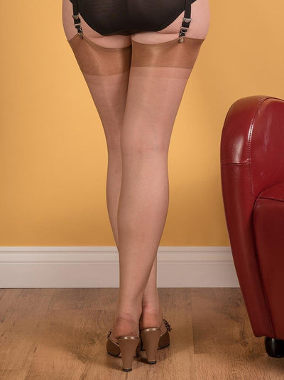 Seamfree Stockings | | Champagne Fully Fashioned Stockings | 1950s Vintage Stockings
