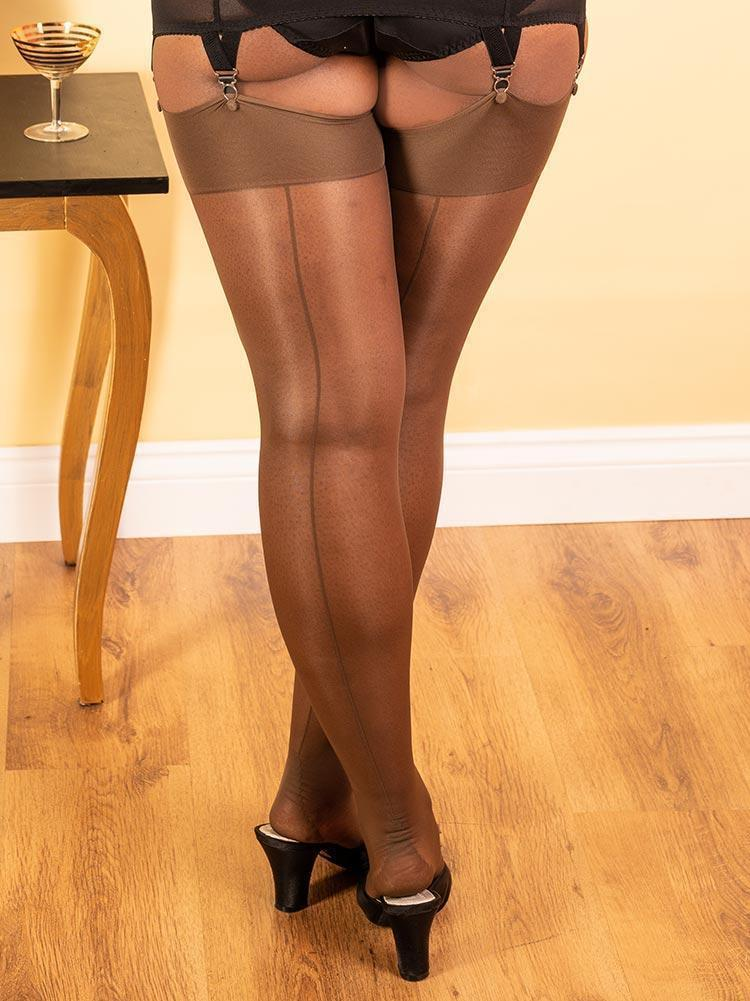Seamed Stockings | Nude Seamed Stockings | Brown Seamed Stockings
