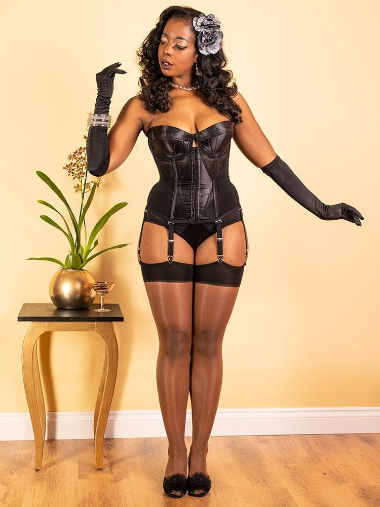 Seamed Stockings for Women of Colour | Dark Nude Seamed Stockings