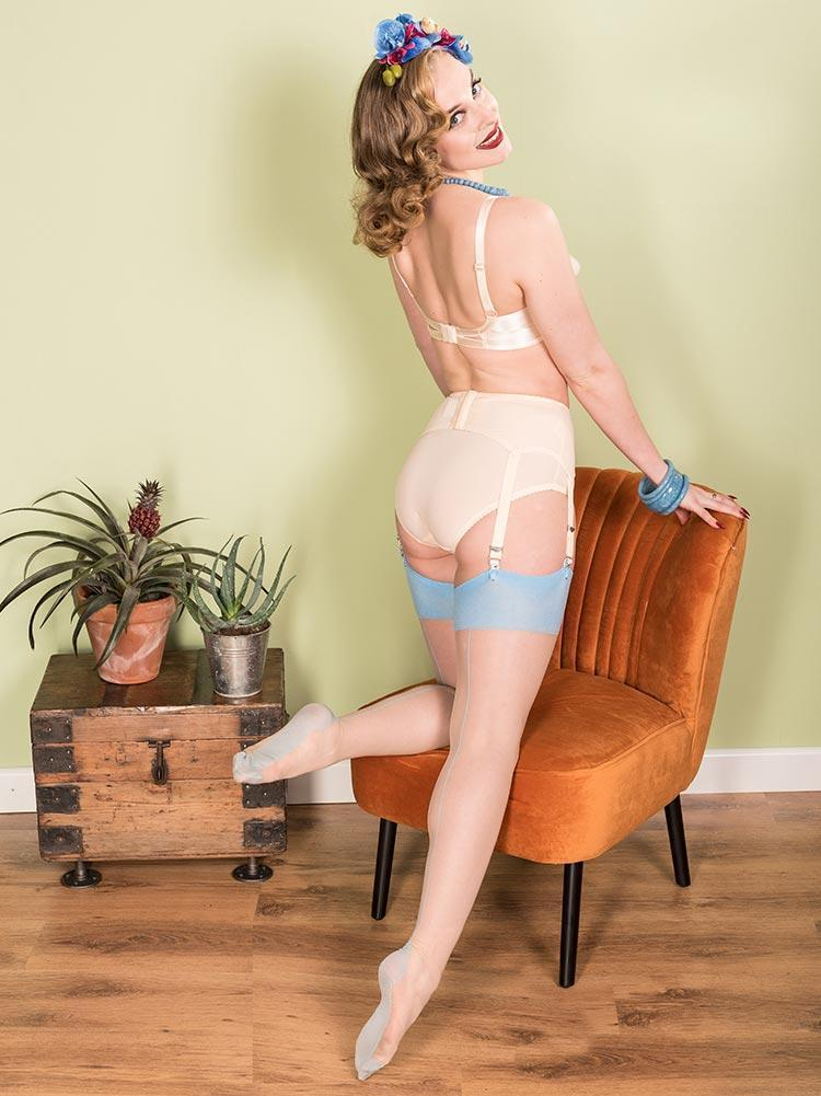 Seamed Stockings | Light Blue Seamed Stockings | Retro Seamed Stockings