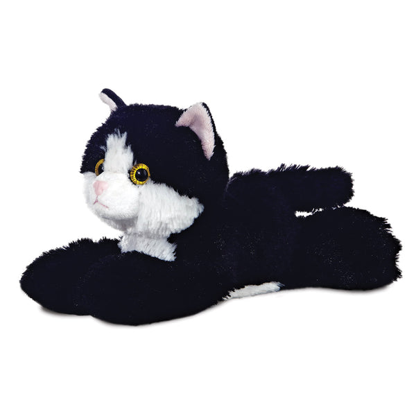 Mini Flopsie - Maynard Black & White Cat 8In