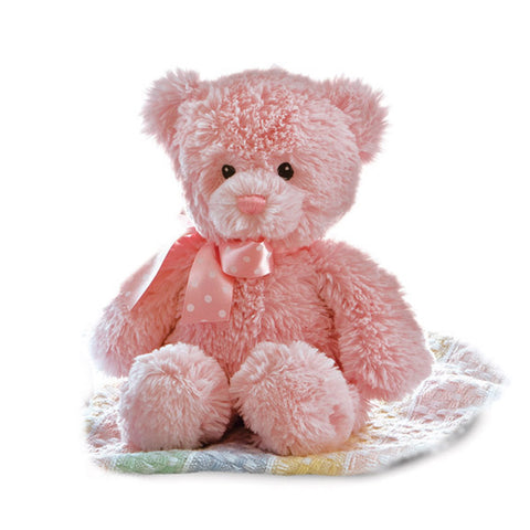 Yummy Bear  - pink soft toy for newborns - Aurora World LTD