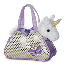 Purple handbag for kids