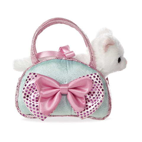 Fancy Pal Cat Icy Blue with Bow - Aurora World LTD