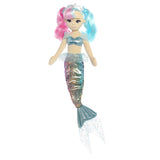 Multi-coloured mermaid toy