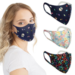 Neoprene Antibacterial Fashion Face Masks - Aurora World LTD
